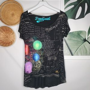 Desigual Physics Sketch Graphic Tee Wearable Art